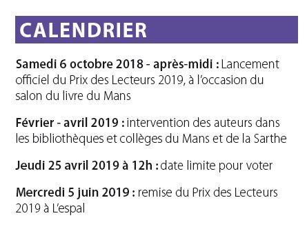 Calendrier PdL 2019